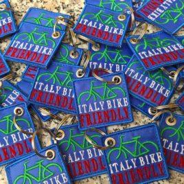 Portachiavi Ricamato personalizzato Italy Bike Friendly