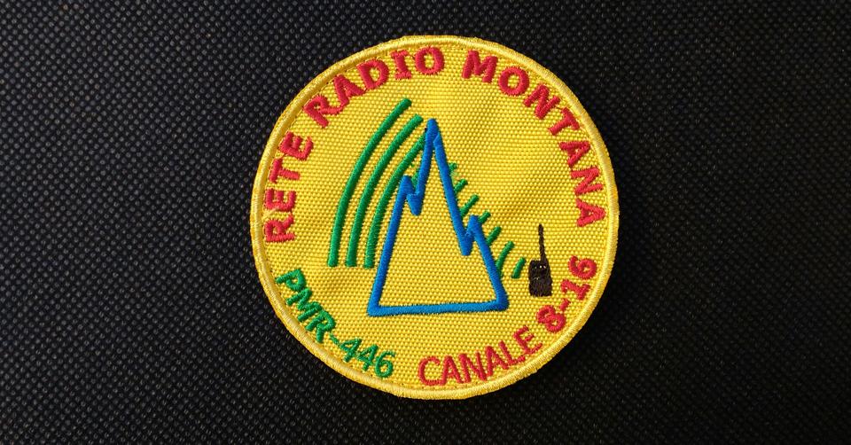 Patch ufficiale Rete Radio Montana – base giallo