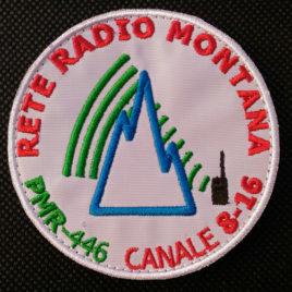 Patch ufficiale Rete Radio Montana – base bianca