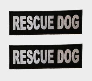 Patch Toppa Rescue Dog personalizzata per pettorina julius k9