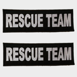 Patch Toppa Rescue Team personalizzata per pettorina julius k9