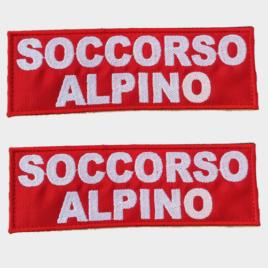 Patch Toppa Soccorso Alpino personalizzata per pettorina julius k9
