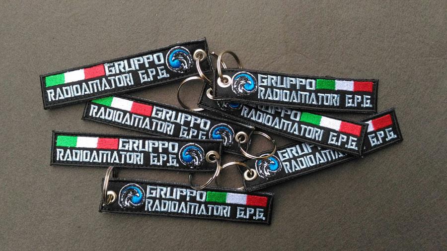 Portachiavi Ricamato personalizzato Gruppo Radioamatori Guardie Particolari Giurate d'Italia