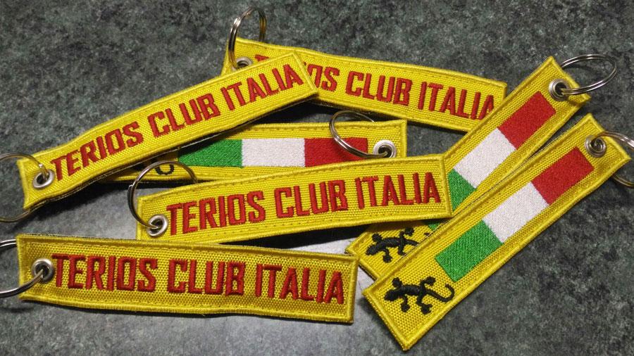 Portachiavi Ricamato personalizzato Terios Club Italia