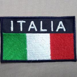 Patch Toppa rettangolare ITALIA – fondo blu navy