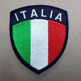 Patch Toppa scudetto ITALIA – fondo blu navy