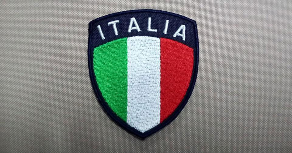 Patch Toppa scudetto ITALIA – fondo blu navy