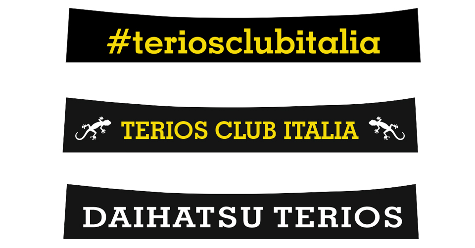Fascia parasole personalizzata del Terios Club Italia