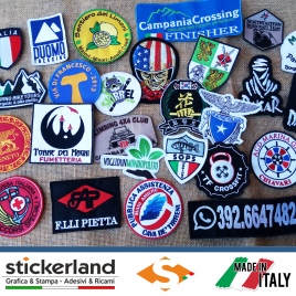 Toppe Patch ricamate personalizzate