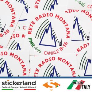 Adesivi Rete Radio Montana - base bianca