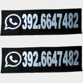 Patch Toppa Numero di Telefono personalizzata per pettorina julius k9