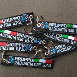Portachiavi Ricamati personalizzati - Gruppo Radioamatori GPG