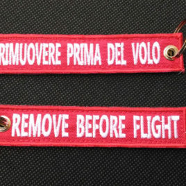Portachiavi Ricamati personalizzati - Remove Before Flight