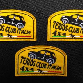 Patch ufficiale del Terios Club Italia – 3 pezzi