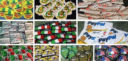 Toppe Patch ricamate personalizzate - Produzione Stickerland