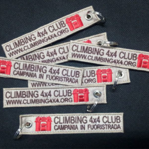 Portachiavi Ricamati personalizzati - Climbing 4x4 Club
