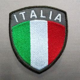 Patch Toppa scudetto ITALIA – fondo verde militare