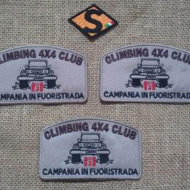 Patch ufficiale del Climbing 4×4 Club – Campania in Fuoristrada 3 pezzi