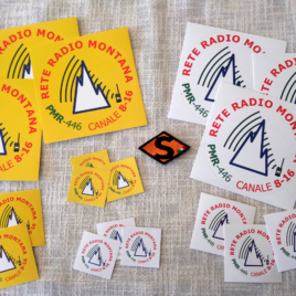 Adesivi personalizzati Rete Radio Montana varie misure